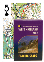 West Highland Way Map Playing Cards