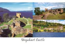 Urquhart Castle Composite 1 Postcard (HA6)