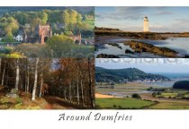 Around Dumfries Composite Postcard (HA6)
