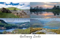 Galloway Lochs Composite Postcard (HA6)