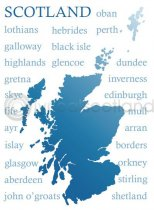 Scotland Place Names Silhouette (H)