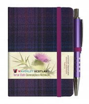 Tartan Cloth Notebook Mini: Thistle (Jun)