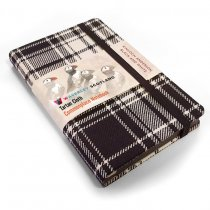 Tartan Cloth Notebook Pocket: Black & White (Jun)