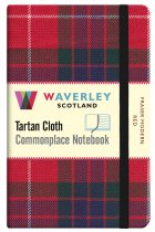 Tartan Cloth Notebook Pocket: Fraser Modern Red