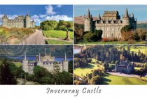 Inveraray Castle Composite Postcard (HA6)