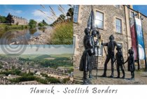 Hawick Scottish Borders Composite Postcard (HA6)