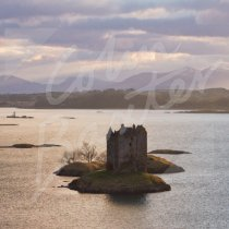 Castle Stalker, Appin, Argyll 1 Greetings Card (CB)
