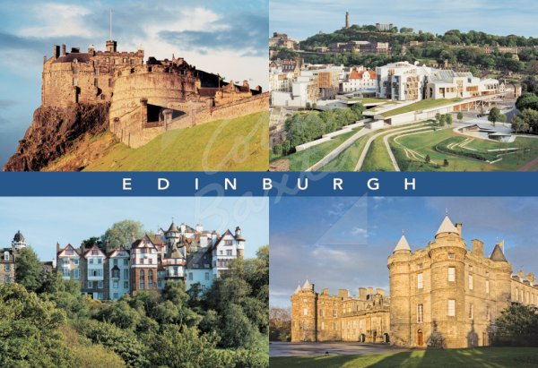 Edinburgh Landmarks Comp, Edinburgh Postcard (H Std CB)