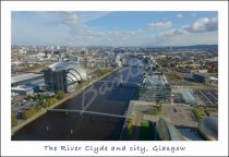 River Clyde & City from Glasgow Tower, Glasgow Postcard (H Std C