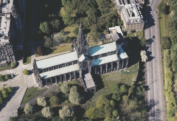 Glasgow Cathedral from air, Glasgow Postcard (H Std CB)