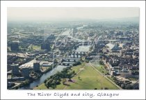 Glasgow Green, River Clyde & City Centre, Glasgow Postcard (H St