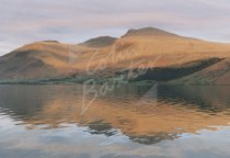 Sca Fell & Scafell Pike across Wast Water, Lake District Postcar