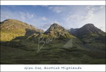 Three Sisters, Glen Coe, W. Highlands Postcard (H Std CB)
