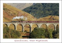 Glenfinnan Viaduct, West Highlands 2 Postcard (H Std CB)