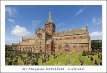 St Magnus Cathedral, Kirkwall, Orkney Postcard (H Std CB)