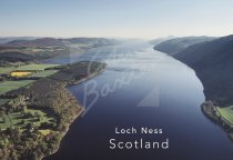 Loch Ness from north From Air Postcard (H Std CB)