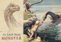 Loch Ness Monster (Drawing & Schoolboy) Postcard (H Std CB)