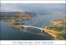 Skye Bridge & Loch Alsh From Air Postcard (H Std CB)