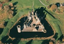 Caerlaverock Castle, Borders From Air Postcard (H Std CB)