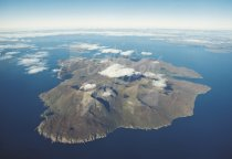 Isle of Rum From Air Postcard (H Std CB)