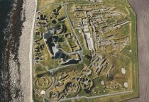 Jarlshof, Shetland From Air Postcard (H Std CB)