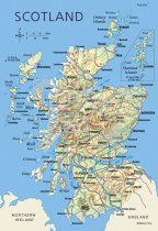Map of Scotland Postcard (V Std CB)