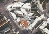 Scottish Parliament, Holyrood, Edinburgh 2 Postcard (H Std CB)