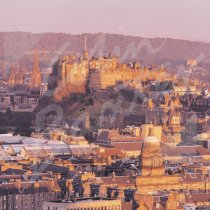 Edinburgh Castle & City Greetings Card (CB)