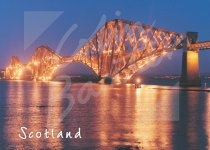 Forth Bridge at dusk Magnet (H CB)