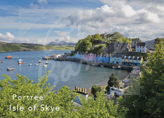 Portree Harbour, Isle of Skye Magnet (H CB)