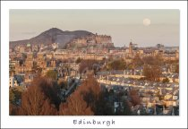 Arthur's Seat, Castle & City, Edinburgh Postcard (H Std CB)