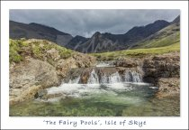 Fairy Pools, Cuillins, Skye Postcard (H Std CB)