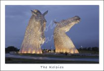 PC CB Kelpies at Dusk, Falkirk Postcard (H Std CB)
