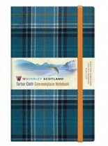 Tartan Cloth Notebook Large: Blue Loch