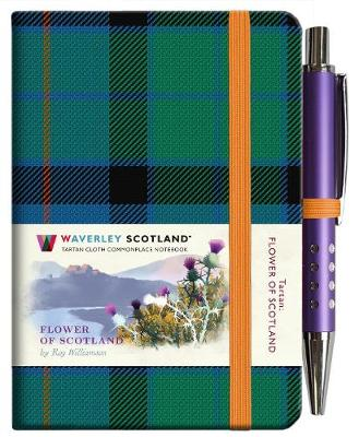 Tartan Cloth Notebook Mini: Flower of Scotland (Jan)