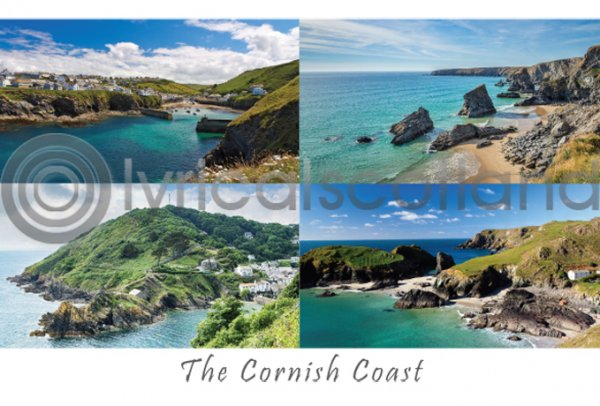 Cornish Coast Composite Postcard (H A6 LY)