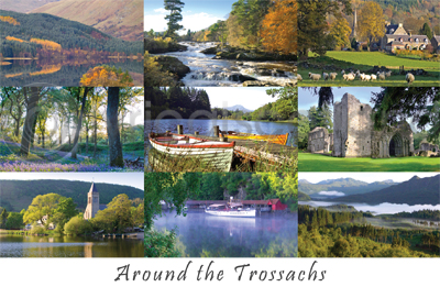 Around the Trossachs Postcard (HA6)