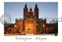 Kelvingrove Snow, Glasgow Postcard (H A6 LY)