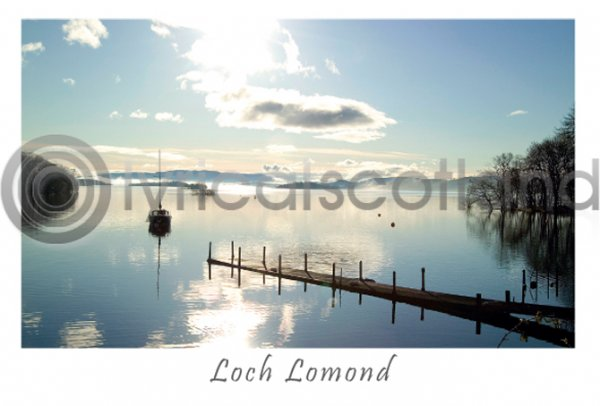 Loch Lomond Morning at Luss Postcard (H A6 LY)