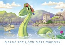 Scotland - Nessie Cartoon Magnet (H LY)