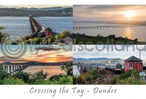 Tay Bridge Composite, Dundee Postcard (H A6 LY)