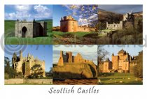 Scottish Castles Composite 4 Postcard (HA6)